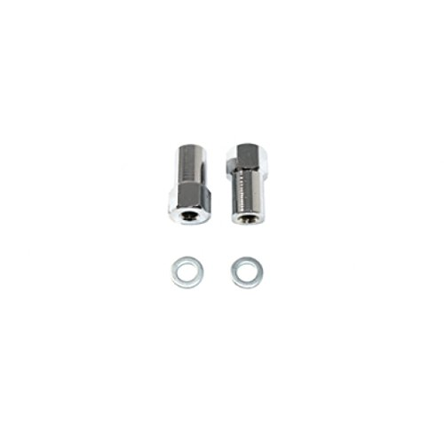 V-Twin 44-0485 - Chrome Axle Adjuster Nut Set