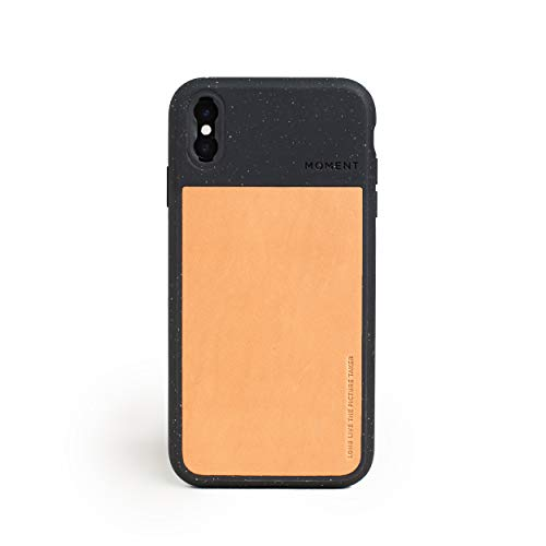 Moment Protective iPhone Xs Max Case - Durable Wrist Strap Friendly Case for Photography and Camera Lovers (Black Speckle)