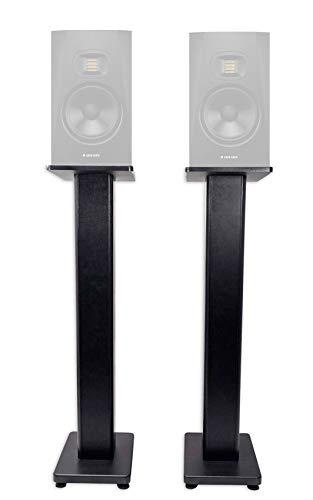 "(2) Rockville 28"" Studio Monitor Speaker Stands For ADAM Audio T7V Monitors"