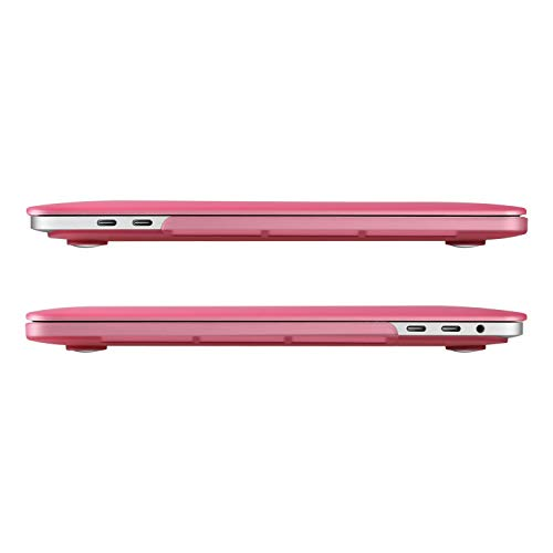 UESWILL MacBook Pro 15 inch Case 2019 2018 2017 2016, Smooth Matte Hard Case for MacBook Pro 15 inch with Touch Bar/USB-C, Model: A1990/A1707, Pink