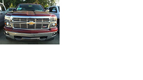 2014 Chevy Silverado Z71 Chrome Grille Insert Horizontal Overlay Trim