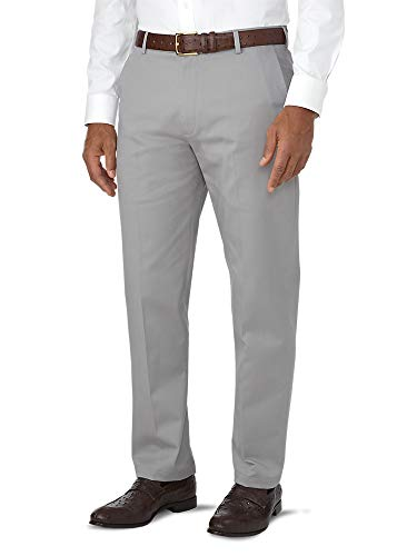 Paul Fredrick Men's Tailored Fit Impeccable Chino Flat Front Pant