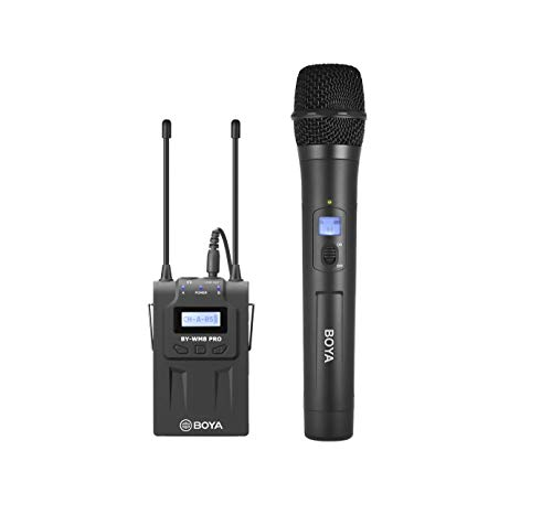 BY-WM8-PRO-K3 - BOYA UHF Wireless Mic with One Receiver and One Handheld Microphone
