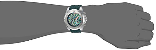 Invicta Men's Stainless Steel Quartz Watch with Polyurethane Strap, Green, 29 (Model: 25096)