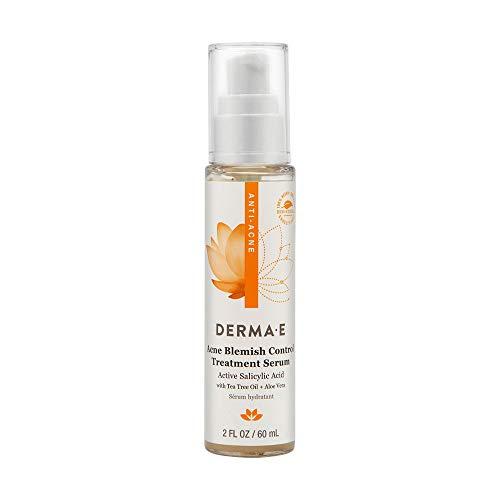 Derma E Acne Blemish Control Treatment Serum with Salicylic Acid, Tea Tree Oil Willow Bark Fight Against Blackheads Breakouts Cystic Acne