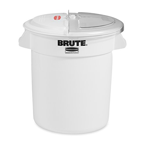 Rubbermaid Commercial ProSave Ingredient Food Storage Container and Sliding Lid with 2-Cup Scoop, 10-Gallon