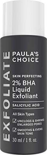Paula's Choice Skin Perfecting 2% BHA Liquid Salicylic Acid Exfoliant, Gentle Facial Exfoliator for Blackheads, Large Pores, Wrinkles & Fine Lines, Travel Size, 1 Fluid Ounce - PACKAGING MAY VARY 2