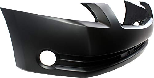 Front Bumper Cover Compatible with 2004-2006 Nissan Maxima Primed with Fog Light Holes