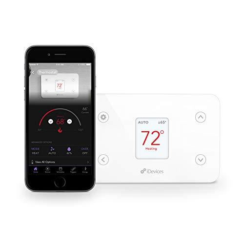 iDevices IDEV0005AND5 FBA_2843481 Wi-Fi Smart Thermostat, Works with Alexa, White