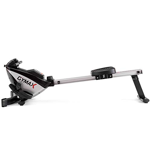 GYMAX Magnetic Rower, 8-Level Folding Magnetic Rowing Machine with LCD Monitor, for Home Gym Cardio Exercise Fitness