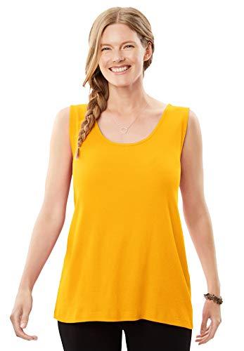 Woman Within Women's Plus Size Rib Knit Tank