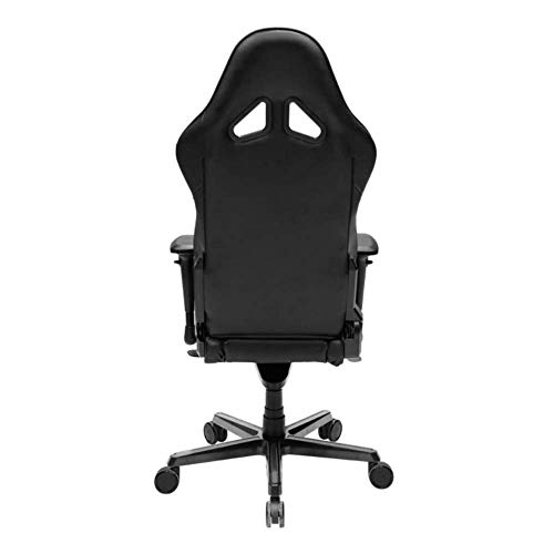 DXRacer OH/RV001/N Black Racing Series Gaming Chair Ergonomic High Backrest Office Computer Chair Esports Chair Swivel Tilt and Recline with Headrest and Lumbar Cushion + Warranty