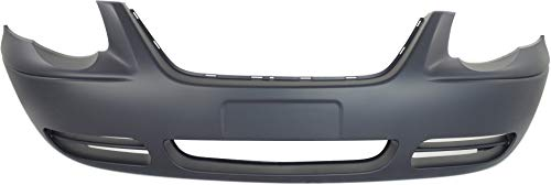 Front Bumper Cover Compatible with 2005-2007 Chrysler Town & Country Primed 119 In. WB