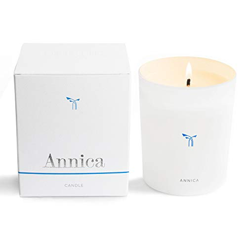 PHLUR Annica Luxury Scented Candle in Glass Vessel - Long Lasting, 100% Natural Wax Candle with Notes of Sandalwood, Hazlenut, Fig & White Floral