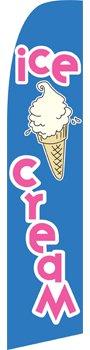 Ice Cream Swooper Feather Flag