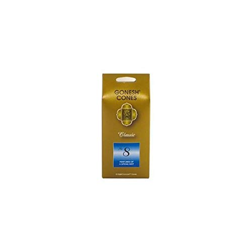 Gonesh Extra Rich Cones 8 Spring Mist,Pack of 25 EA
