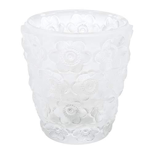 Lalique Crystal Anemones Votive Clear