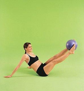 9 Inch Purple Theragear Pilates Mini Ball