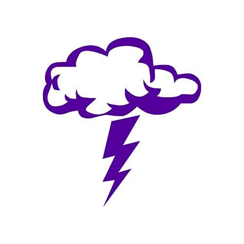 """Storm Cloud Lightning Bolt - Vinyl Decal Sticker - 5.75"""" x 6.25"""" - Purple"""