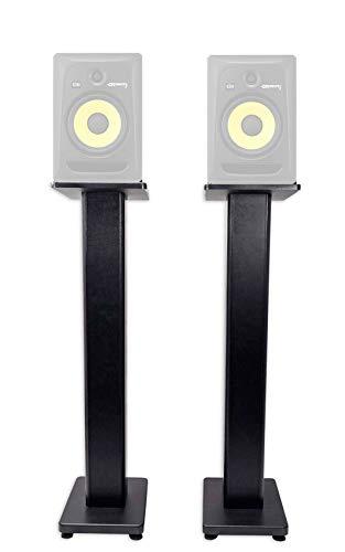 """(2) Rockville 36"""" Studio Monitor Speaker Stands For KRK ROKIT 8 G3 Monitors"""