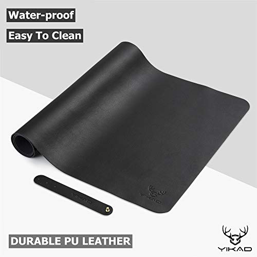 """Yikda Extended Leather Mouse Pad/Mat, Large Office Writing Gaming Desk Computer Leather Mat Mousepad,Waterproof,Ultra Thin 1.2mm - 31""""x15.5"""""""