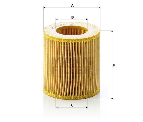 Pack of 2 Mann-Filter HU 816 X Metal-Free Oil Filter