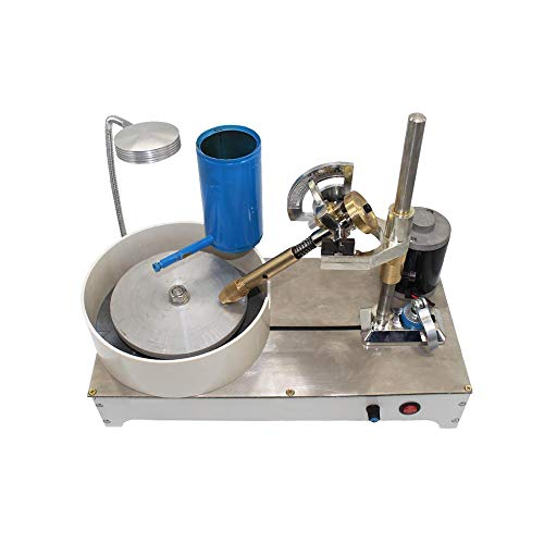 Gem Faceting Machine Jade Stone Angle Machine Jewelry Polisher Flat Grinder with Locator Speed Adjustable 1800RPM 110V-240V (with mechanical handle)