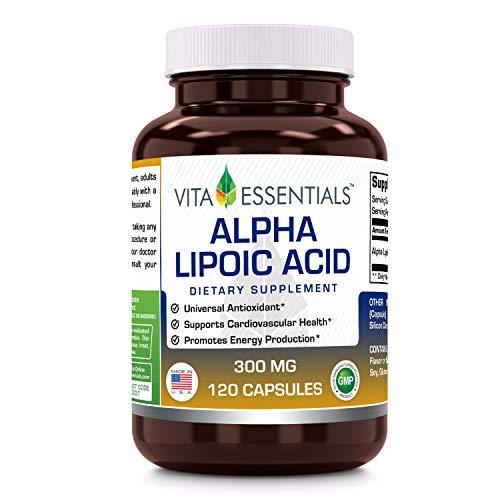 Vita Essentials Alpha Lipoic Acid 300 Mg Capsules, 120 Count