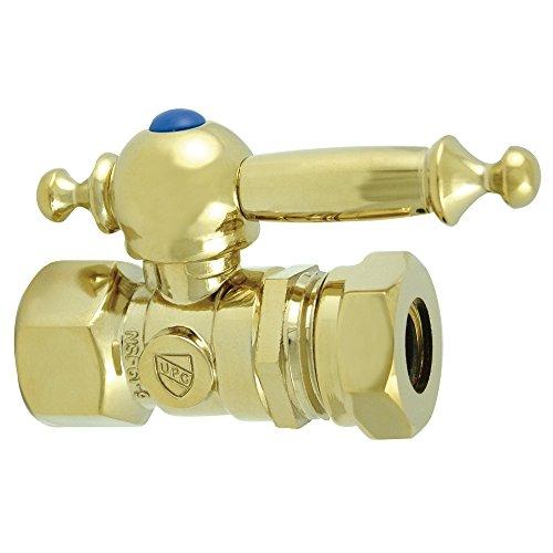 "Kingston Brass CC44152TL Vintage 1/2"" Fip x 1/2"" Slip Joint Straight Stop, Polished Brass"