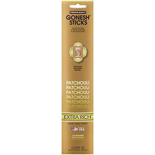 Gonesh Extra Rich Patchouli Sticks,Pack of 20 EA