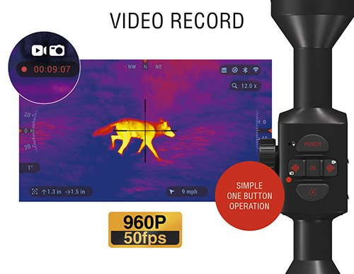 ATN Thor 4, 640x480, Thermal Rifle Scope w/Ultra Sensitive Next Gen Sensor, WiFi, Image Stabilization, Range Finder, Ballistic Calculator and iOS and Android Apps