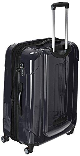 Traveler's Choice Sedona 100% Pure Polycarbonate Expandable Spinner Luggage, Black, 3-Piece Set