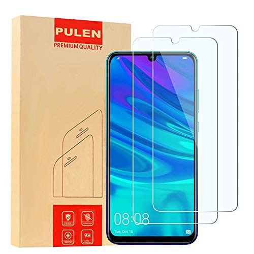 [2-Pack] PULEN Screen Protector for Huawei P Smart 2019/P Smart 2020,HD Anti-Fingerprints Anti-Scratch Bubble Free 9H Hardness Tempered Glass Film for Huawei P Smart 2019
