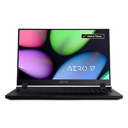 Gigabyte AERO 17 SA Thin+Light Performance Laptop, 17.3″ 144Hz FHD IPS Display, GeForce GTX 1660 Ti, Intel Core i7-9750H, 8GB DDR4, 256GB NVMe SSD, Up to 8-hrs Battery Life
