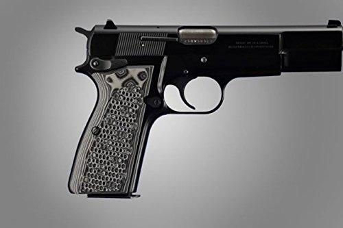 Hunting Grip Browning Hi Power Piranha G10 Black Grey