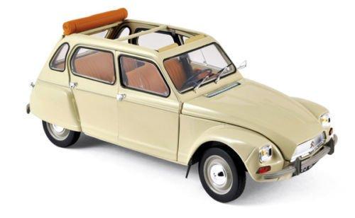 Norev New 1:18 W/B Collection - ERABLE Beige 1970 Citroen Dyane 6 Diecast Model Car