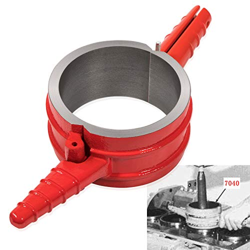 "Camoo 7040 Diesel Piston Ring Compressor Tool 5.4"" Bore Heavy Duty For Caterpillar 3400, C-15, PT-7040 and Cummins ISX (Red)"