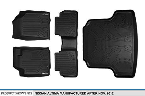 MAXLINER Floor Mats and Cargo Liner Set Black for 2013-2018 Nissan Altima Sedan (Manufactured After Nov. 2012)