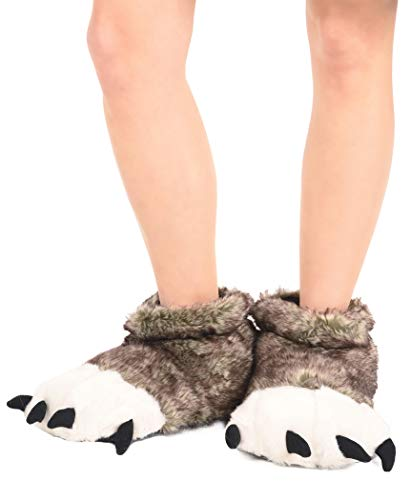 Lazy One Animal Paw Slippers for Adults and Kids, Cozy, Soft, Fun, Costume
