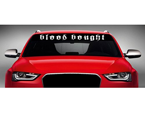 "Noizy Graphics 40"" x 4"" Blood Bought Christian Car Windshield Sticker Truck Window Vinyl Decal Color: Black"