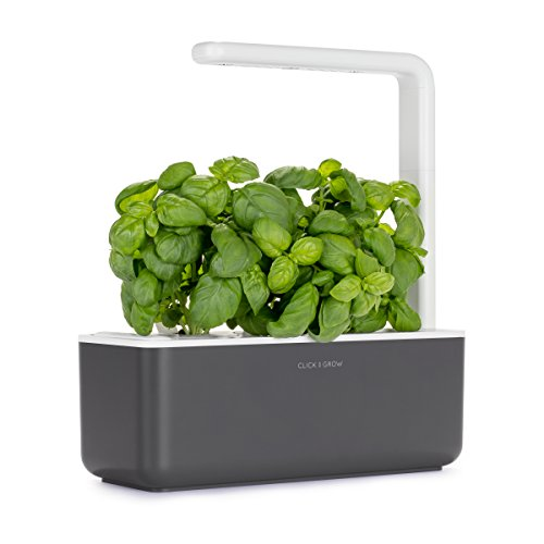 Click and Grow Smart Garden 3 Indoor Herb Garden (Includes Basil Plant Pods), Grey