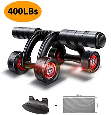 KANSOON Ab Roller Wheel Exercise Equipment – 3/4 Ab Wheel Innovative Ergonomic Abdominal Roller Ab Workout Equipment – Ab Roller for Home Gym – Ab Machine for Ab Trainer -Abs Roller with Knee Pad