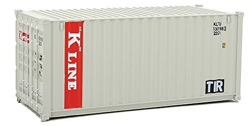 Walthers SceneMaster HO Scale Model of K-Line (Gray, Red, White) 20' Corrugated Container