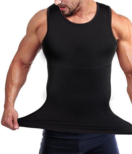 Mens Compression Shirt Slimming Body Shaper Vest Workout Tank Tops Abs Abdomen Undershirts 4