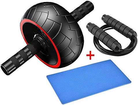PEI Ab Roller Wheel – 3-in-1 Ab Wheel Roller with Knee Mat and Jump Rope – Ab Roller Wheel for Abdominal Exercise – Ab Workout – Home Workout Equipment – Abs Wheel Roller – Abs Roller 2020 New