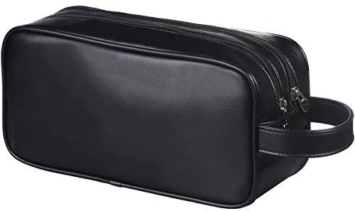 Happy David Leather Toiletry Bag
