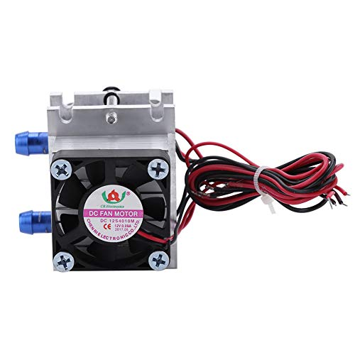 Dual-chip Semiconductor Thermoelectric Peltier TEC1-12706 Cooler Water Cooling Device Single Cooler 144w US Plug(Single Cooler)