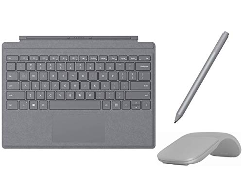 Microsoft Surface Pro Type Cover with Trackpad, Mechanical Key, Surface Pen and Arc Mouse Business Accessories Combo, for Surface Pro 6, Pro, Pro 3, Pro 4 (Platinum) (Renewed)