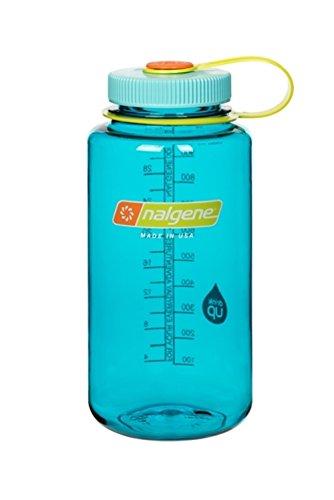 Nalgene Tritan Wide Mouth BPA-Free Water Bottle, 32 Oz, Cerulean