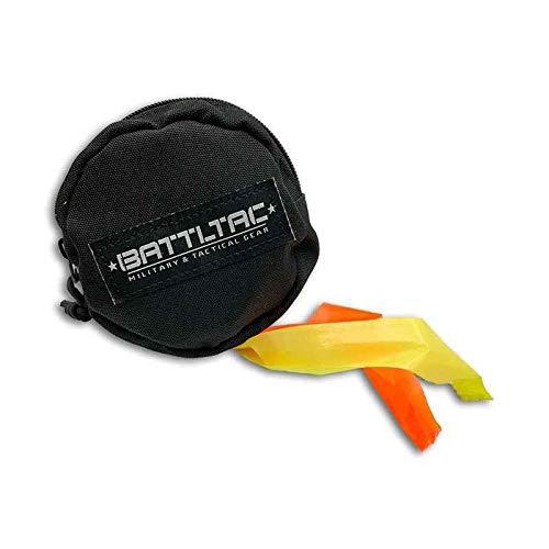 Flagging Tape Dispenser w/ 2 Flagging Tape Rolls - Emergency Wilderness Survival Prepper Gear